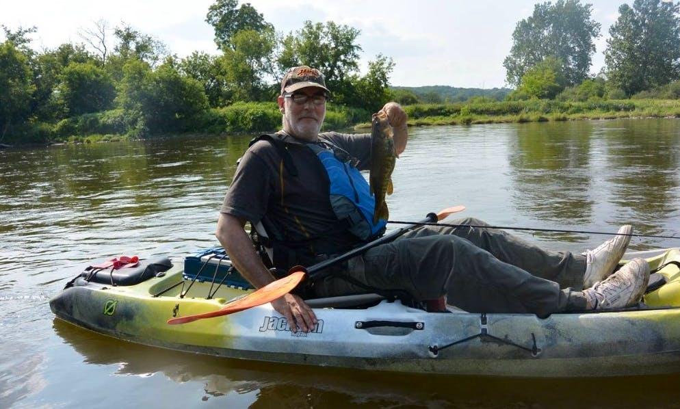 Guided Kayak River Fishing in Kitchener, Ontario