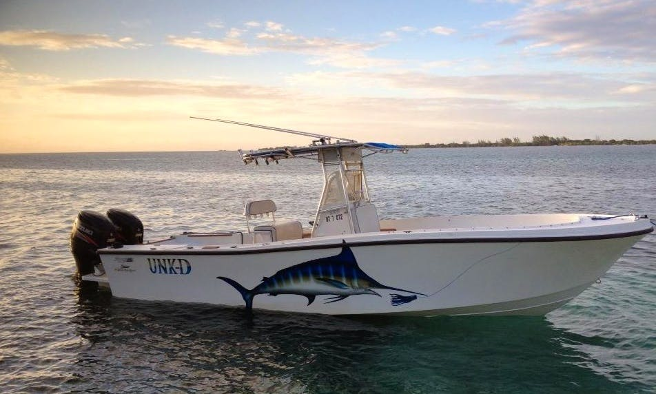 "28ft ""Unk-D"" Deep-V Mako Hull Center Console Rental In Utila, Honduras"