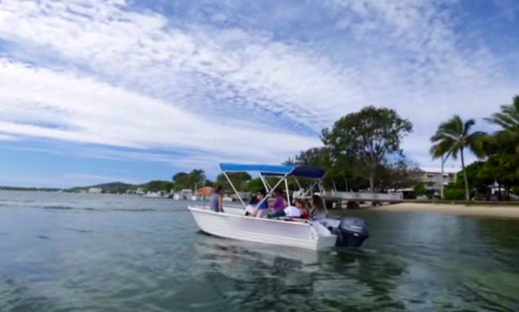 Explore Noosaville, New Zealand on 20' Front Runner Boat