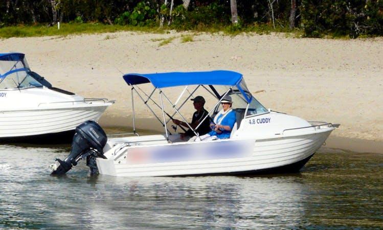 Enjoy Noosaville, Australia on 16' Cuddy Cabin