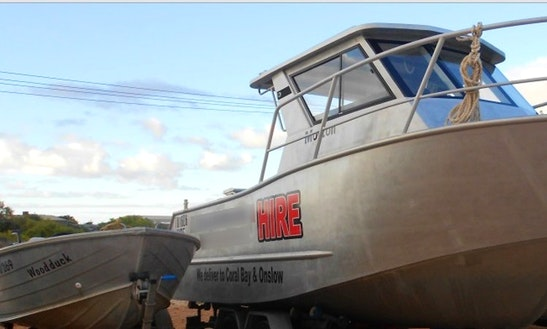 Enjoy 25 Ft Jackman Cuddy Cabin Boat For Rent In Exmouth, Western Australia