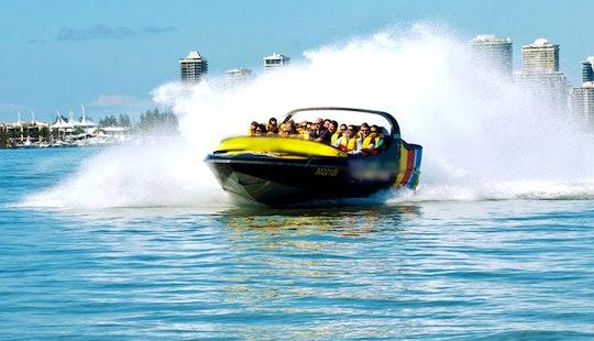 Amazing, Exhilarating, Top Speed Jet Boat Ride In Main Beach, Australia