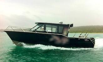 Charter Fishing in Tasmania, Australia on 32' Sport Fisherman