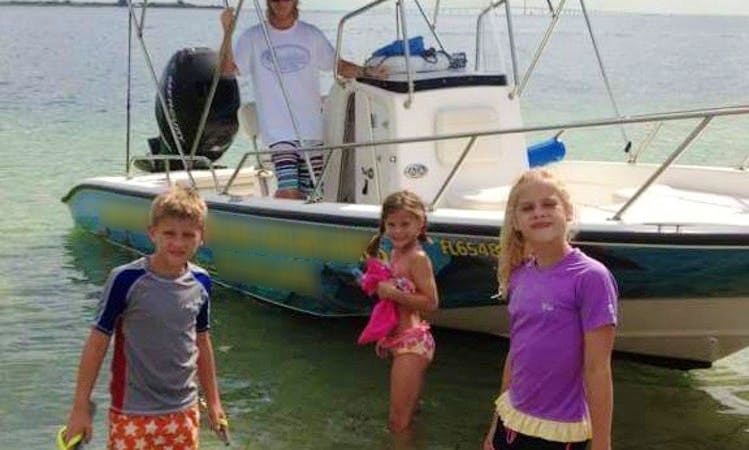 Tours on a 23' Boston Whaler Center Console In Cortez, Florida