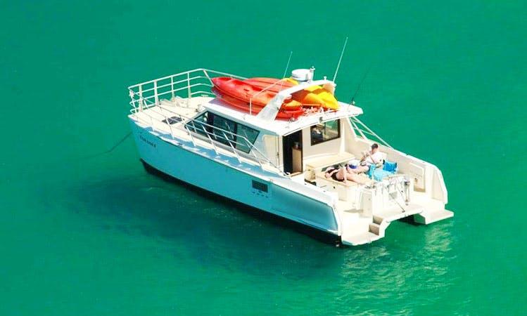 Enjoy Kaiteriteri, Tasman on 36' Power Catamaran