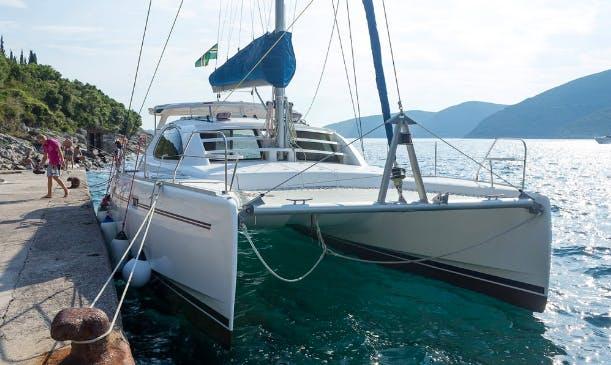 Charter 40' Leopard Cruising Catamaran in Tivat, Montenegro
