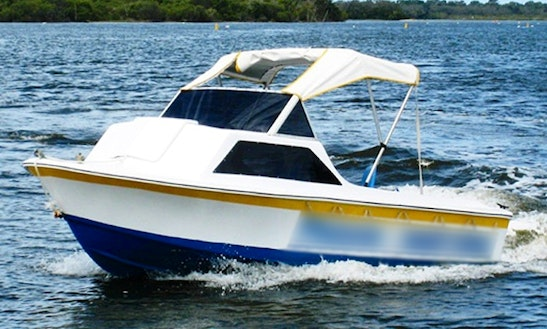 Captained Half Cabin Cruiser Power Boat Hire In Noosaville, Queensland, Australia