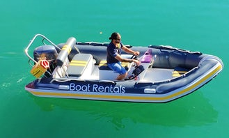 Boat Charlie (5 pax), 4.75m RIB with Single FT50Hp Yamaha outboard in Cape Town, South Africa