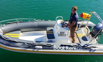 Boat Bravo (6 pax), 5.2m RIB with Single FT60E Yamaha outboard in Cape Town, South Africa