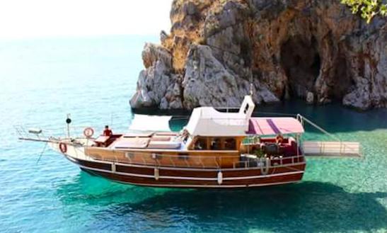 Island Boat Tour Around Blue Bays Aboard A Turkish Boat