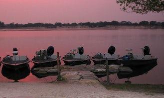 Enjoy Fishing in Western Province, Zambia on Jon Boat