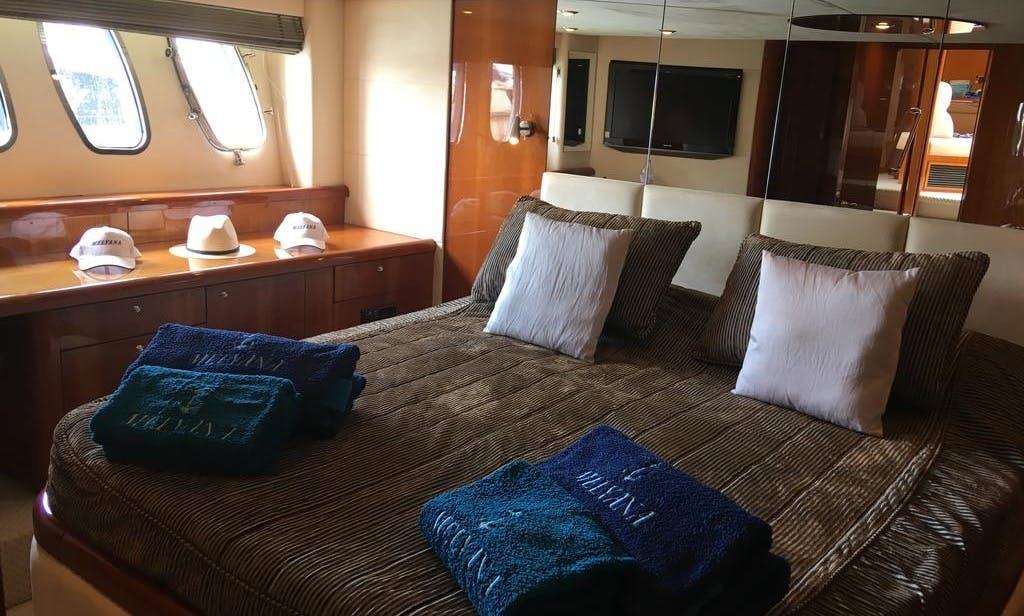 Motor yacht Sunseeker predator 62 rental in Beaulieu-sur-Mer, Monaco
