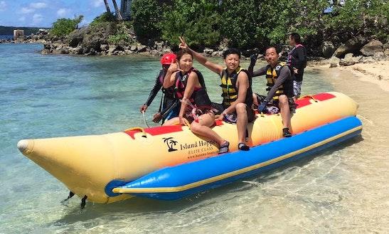 Enjoy Banana Boat Rides In Piti, Guam!