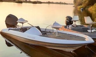 Enjoy Fishing in Livingstone, Zambia on Jon Boat