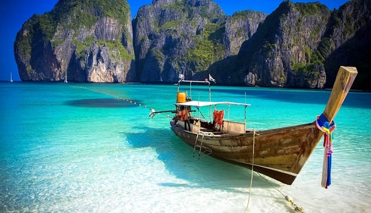 Charter A Longtail Boat In Tambon Pak Nam, Krabi For 6 Pax