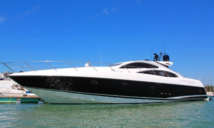 Sunseeker 72 Predator Luxury Yacht Charter (like finest hotels of Europe!) in Vilamoura, Portugal