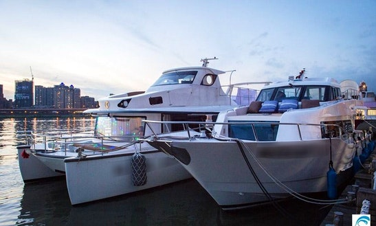 Charter A Power Catamaran In Taoyuan, Taiwan For 20 Pax