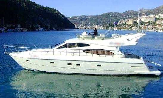 Motor Yacht Charter On A Ferretti 480 In Dubrovnik