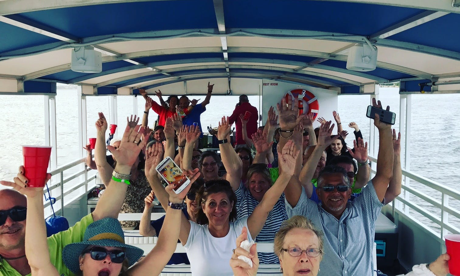 Catamaran Pontoon Charter Boat for Parties, Weddings, Corporate Events in West Palm Beach, Florida