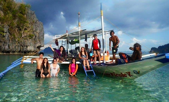 Enjoy Fishing In El Nido, Philippines On A Traditional Boat For 10 Pax