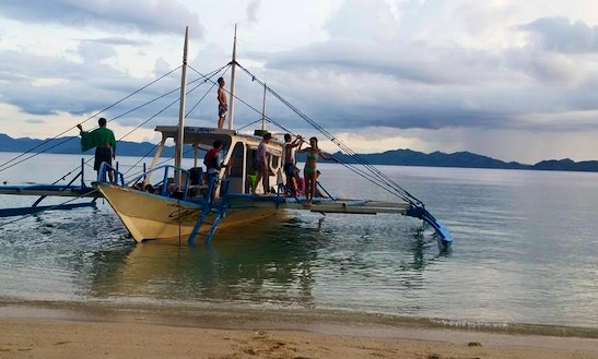 Enjoy Fishing In El Nido, Philippines On A Traditional Boat For 20 Pax