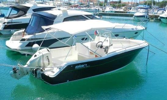 Rent 21' Elan 650 Cc Deck Boat In Portorož, Slovenia