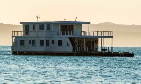 Live in the water on the Nirvana Houseboat in West Coast DC, Western Cape
