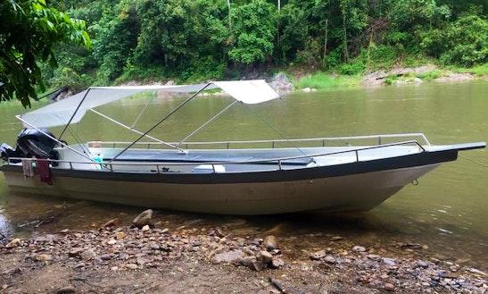 Enjoy Fishing In Gerik, Perak On Dinghy
