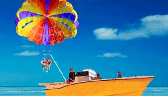 Enjoy Parasailing At Eagle Beach In Noord, Aruba