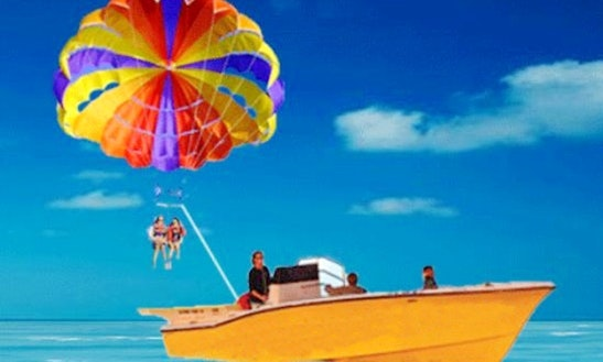 Enjoy Parasailing At Eagle Beach In Noord, Aruba
