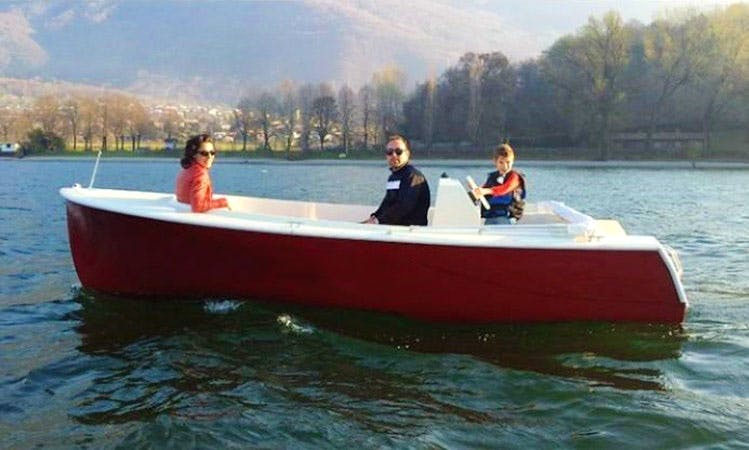 Rent an Electric Boat in Colico Piano, Lombardia