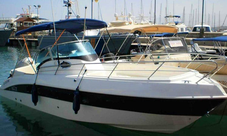 Charter 26 ft Marinello Speedboat in Cyprus, Poli Crysochous