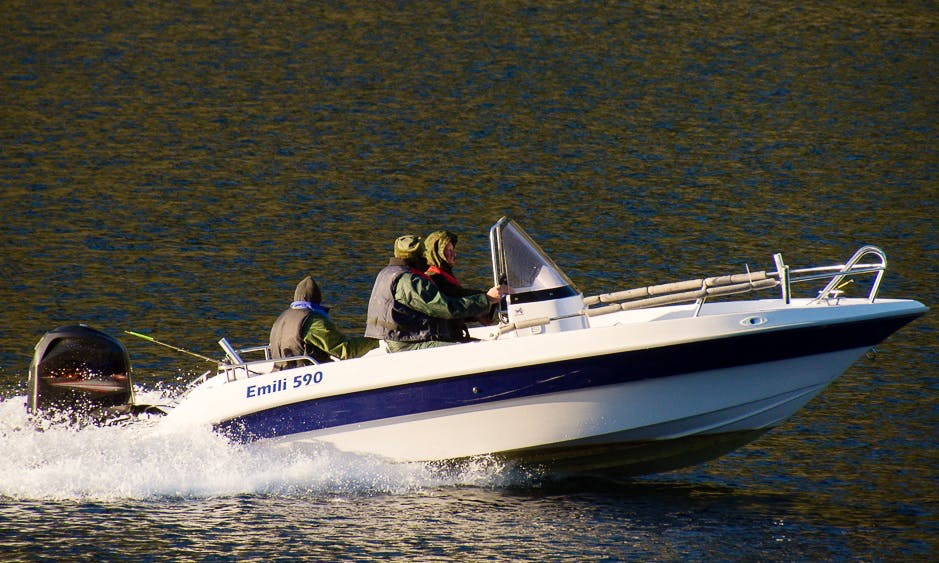 Exciting Fishing Trip in Troms, Norway on Emili 590 Center Console