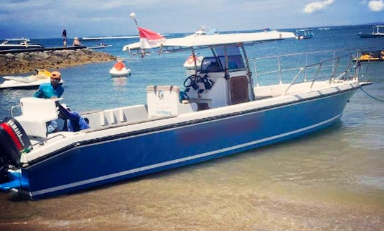 Enjoy Fishing In Denpasar, Bali, Indonesia On Center Console