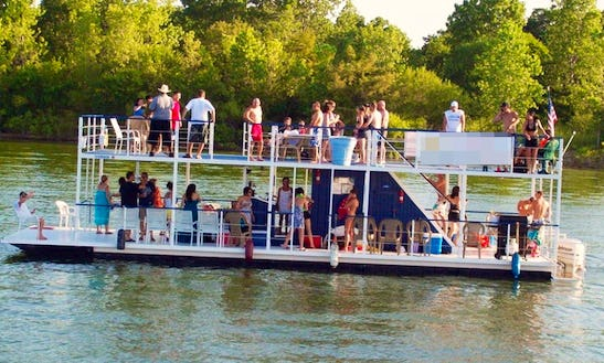 50' Party Barge Charter On Lavon Lake (wylie, Tx)