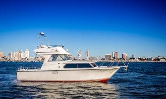 Fishing Charter On 32' Sports Fisherman Yacht In Punta del Este, Uruguay