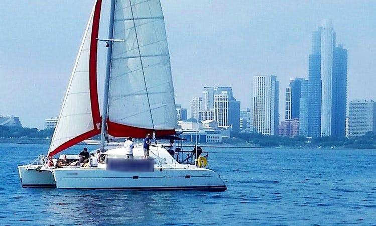 Rent a 38 ft Cruising Catamaran, Lagoon 380 in Chicago, Illinois