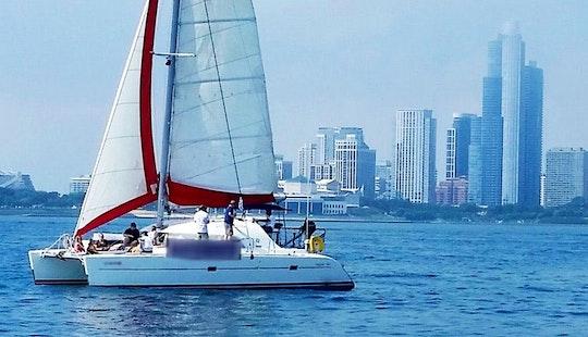Rent A 38 Ft Cruising Catamaran, Lagoon 380 In Chicago, Illinois