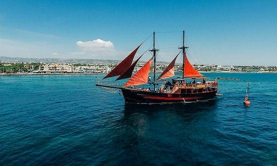 Enjoy Cruising In Paphos, Cyprus On Jolly Roger Ii Passenger Boat