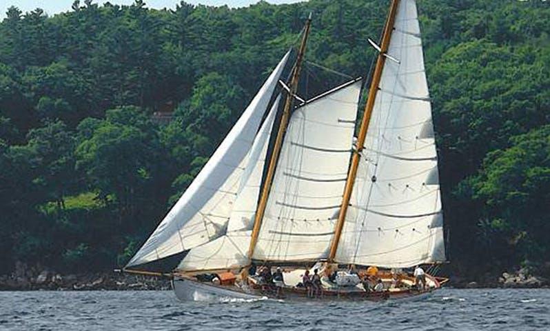 "Experience Maine on 65ft Classic Schooner Yacht ""Heron"""