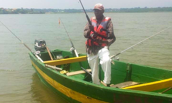 Enjoy Fishing at Anderita beach in Entebbe, Uganda on Dinghy