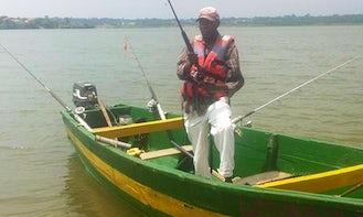 Enjoy Fishing at Anderita beach in Entebbe, Uganda on Dinghy