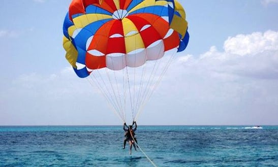 Enjoy Parasailing Memories High Above In Flacq, Mauritius