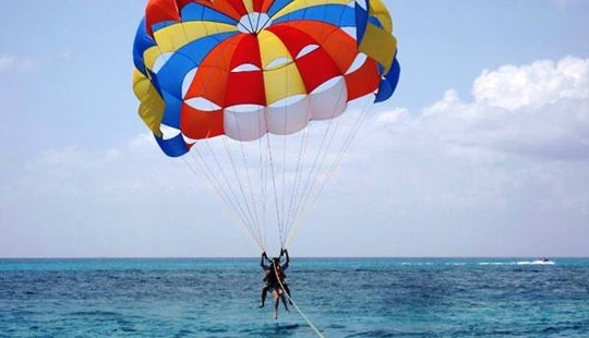 Parasailing Memories High Above In Flacq, Mauritius