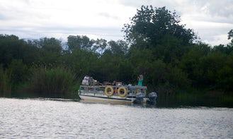 Fishing in Victoria Falls, Zimbabwe on Pontoon