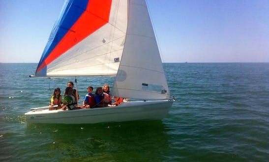 Brezza 22 Dinghy Sailing Lessons In Fiumicino