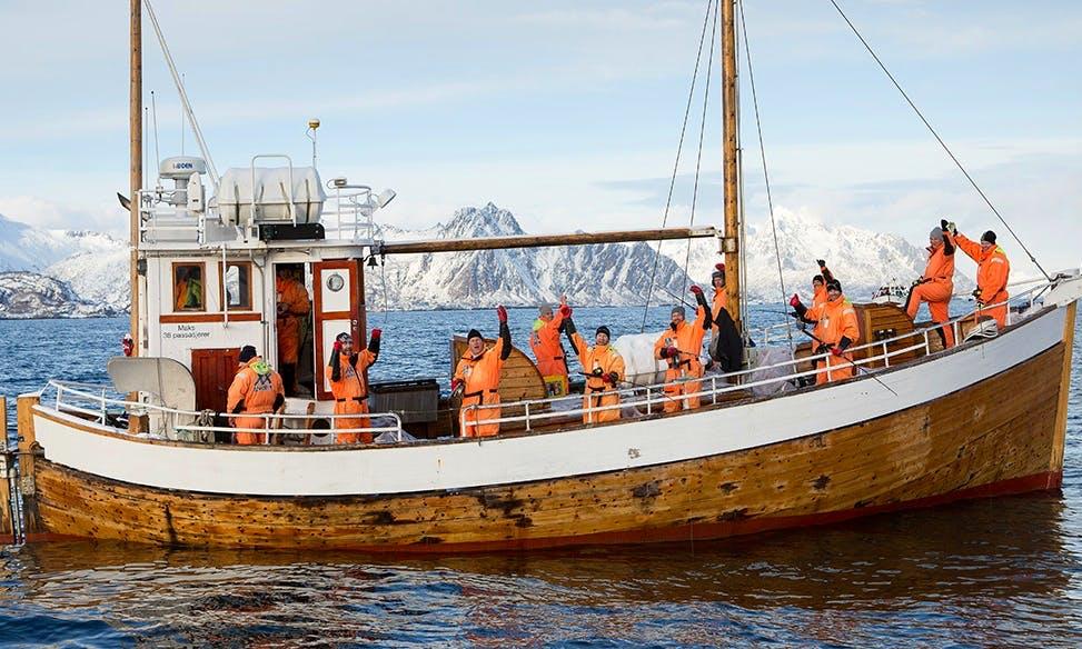 Charter MS Symra Trawler in Svolvær, Norway