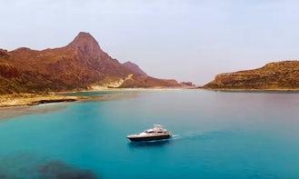 Private Cruise On 62' Power Mega Yacht In Kissamos, Greece, Gravousa & Balos