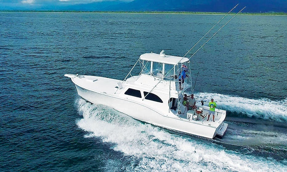 "Fishing Charter On 46ft ""Caribsea"" Guthrie Yacht In Quepos, Costa Rica"