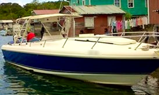 42' Cuddy Cabin Diving Charter In West Bay, Honduras